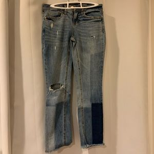 Aeropostale low rise ankle straight jeans